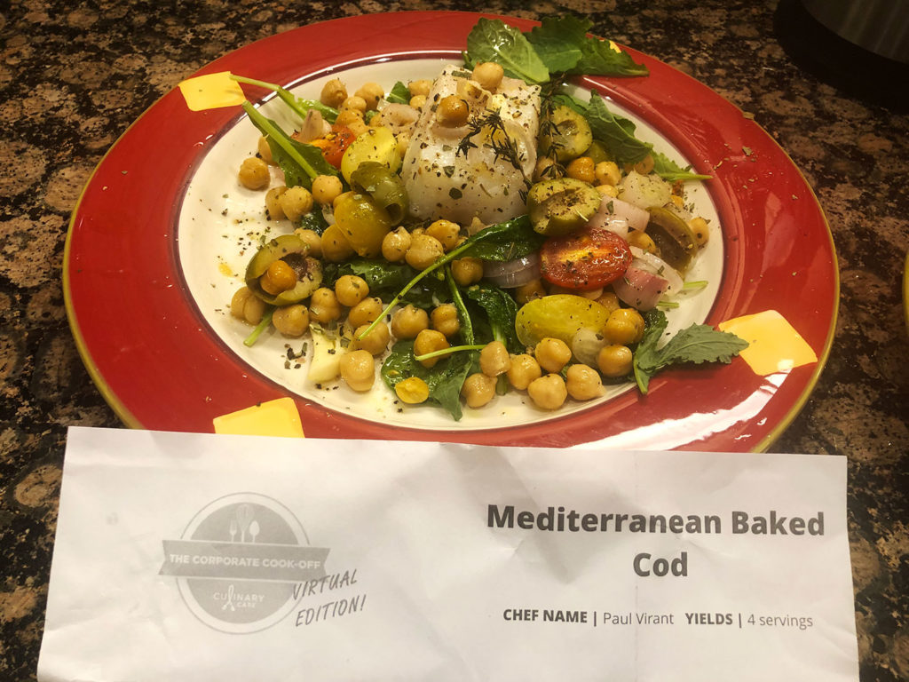 Corporate Cook-Off - Mediterranean Baked Cod