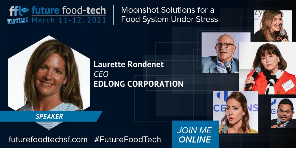 Laurette Rondenet Speaker at Future Food-Tech FFT 2021