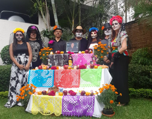 Edlong Mexico Office Celebrating Dia De Los Muertos